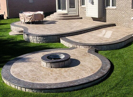 Amazing Backyard Stamped Concrete Patio Ideas on Backyard Masonry Ideas id=58373