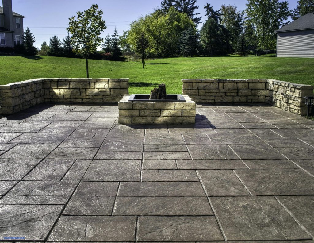 Amazing Backyard Stamped Concrete Patio Ideas on Backyard Masonry Ideas id=38378