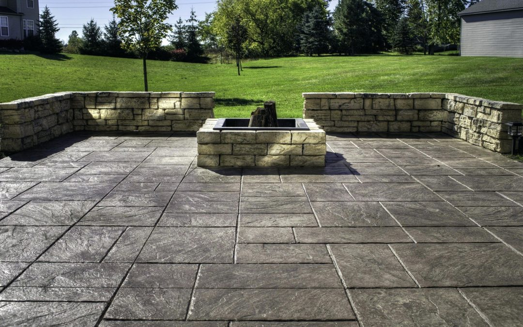 Amazing Backyard Stamped Concrete Patio Ideas That Make Your House Look Perfect